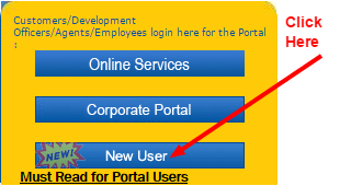 LIC new user home page image