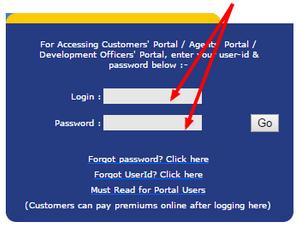 LIC online payment customer login