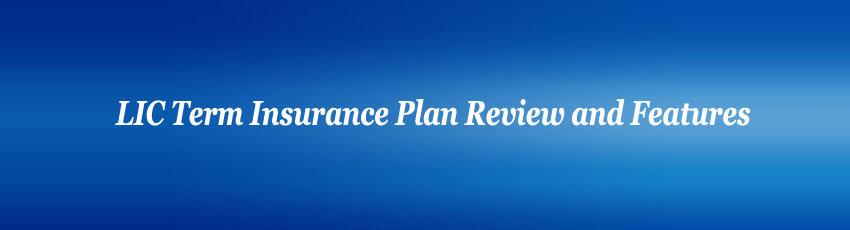Lic Term Insurance Plans