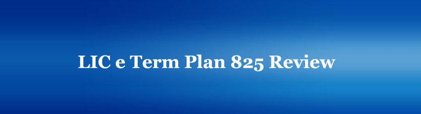 LIC e Term Policy 825