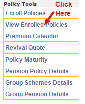LIC payment online policy tools page