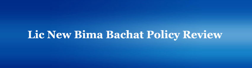 Lic New Bima Bachat policy